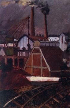 Fabbriche, 1953, olio su tela cm 146x97
