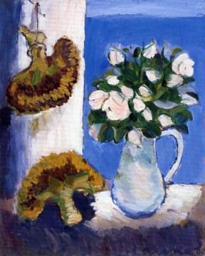 girasoli e rose, 1960, olio su tela 100x81