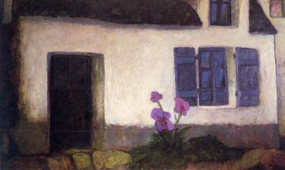 maison bretonne, 1955 olio su tela 280x320