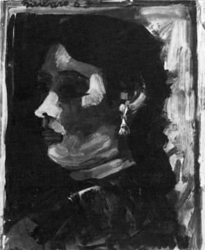 Zingara di profilo, 1963, olio su tela, cm 55x46
