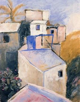 Maison en ètè, 1971, olio su tela, cm 146x114