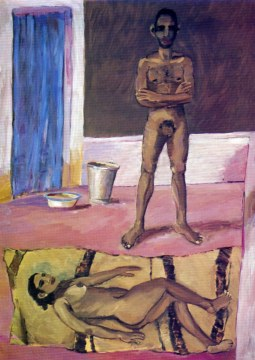 condition humaine, 1975 olio su tela, cm 280x200