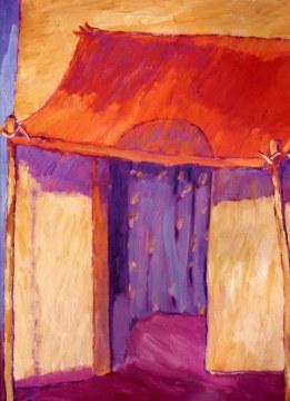 rotes zelt, 1980, cm 200x160