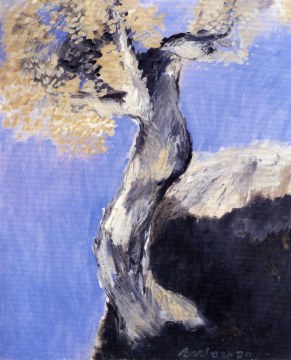 ulivo a nizza, 1970, olio su tela, cm 100x81