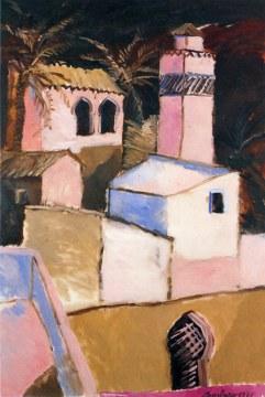 Village rose islamique, 1971, olio su tela cm146x97