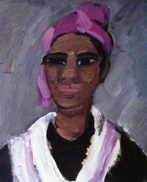 Foulard lilla, 1997, olio su tela, cm 61x50