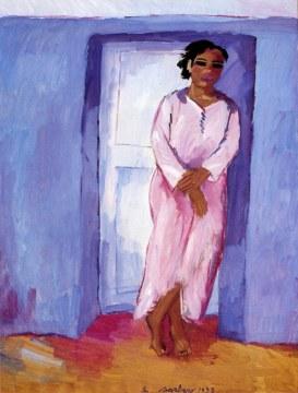 Jellabah rosa, 1993, olio su tela, cm 200x150