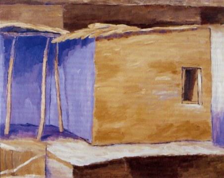 paese berbero, 1997, olio su tela, cm160x200
