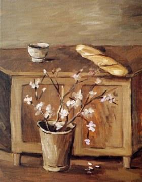 pane e fiori di mandorlo, 1994, olio su tela, cm 146x114