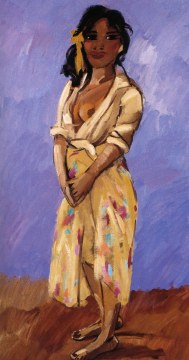 Ragazza gitana, 1990, olio su tela, cm 185x97
