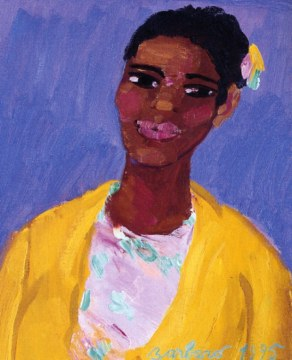 Veste gialla limone, 1995, olio su tela, cm 61x50
