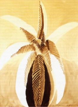 foglie nere, 2004, china su carta, cm 168x129