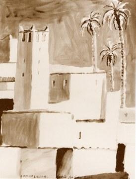 grande kasbah, 2006, inchiostro di china su carta, cm 160x120