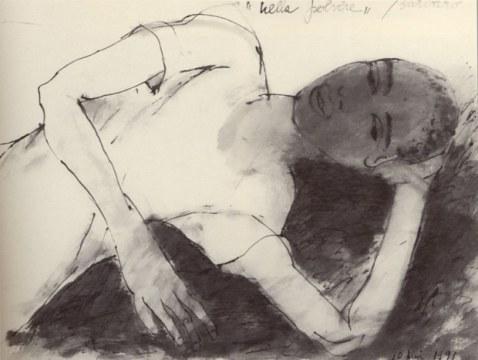 Nella polvere, 1991 chinasu carta, cm 57x170