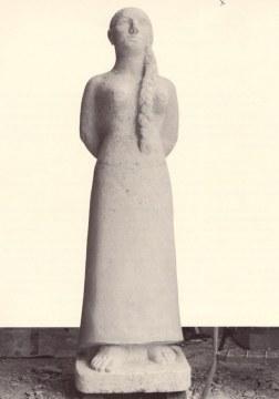 Mattino, 1996, pietra di vicenza, cm. 197x54x54