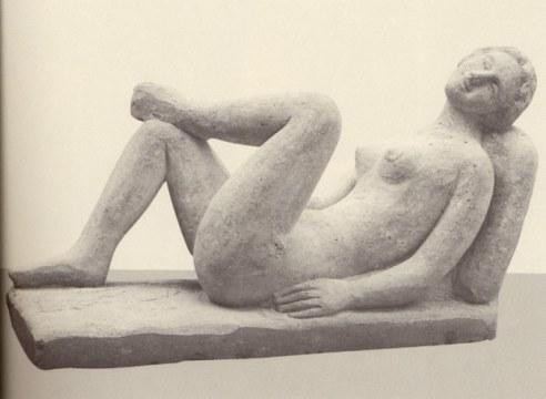Riposo-fianco, 1998, pietra di vicenza, cm. 97x62x170
