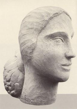 Turca, 1999, pietra di vicenza, cm 55x30x55