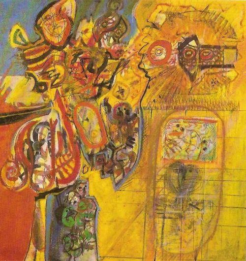 Purgatorio, 1963<br /> olio su tela, cm 130x130