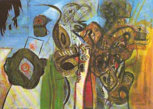 Senza titolo, 1963<br /> olio su tela, cm 80x112