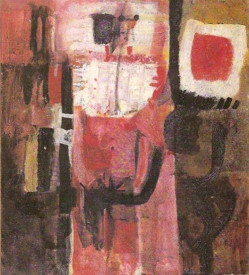 Figura, 1959<br /> olio su tela, cm 107x97
