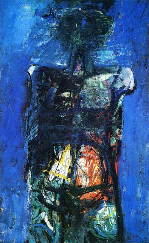 Deportato, 1959<br /> olio su tela, cm 114x70
