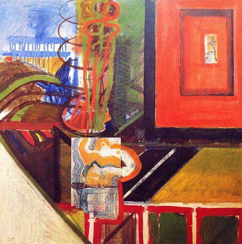 Pittura, 1965<br /> olio su tela, cm 65x65