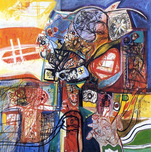 Purgatorio, 1964<br /> olio su tela, cm 150x150