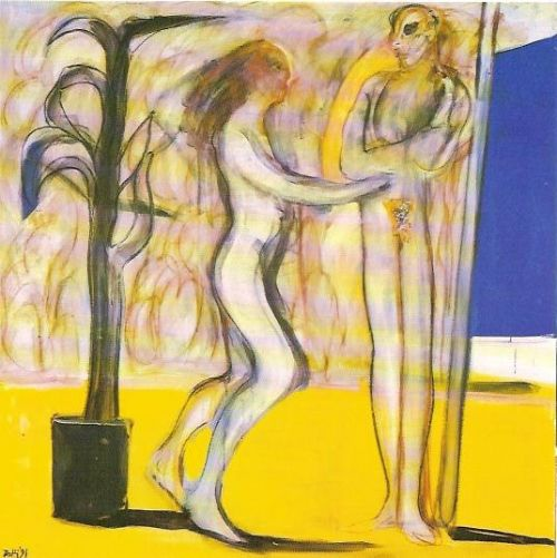 Danza, 1991<br /> acrilico su tela, cm 140x140