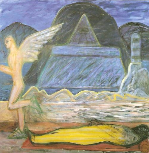 Annunciazione, 1999<br /> acrilico su tela, cm 180x180