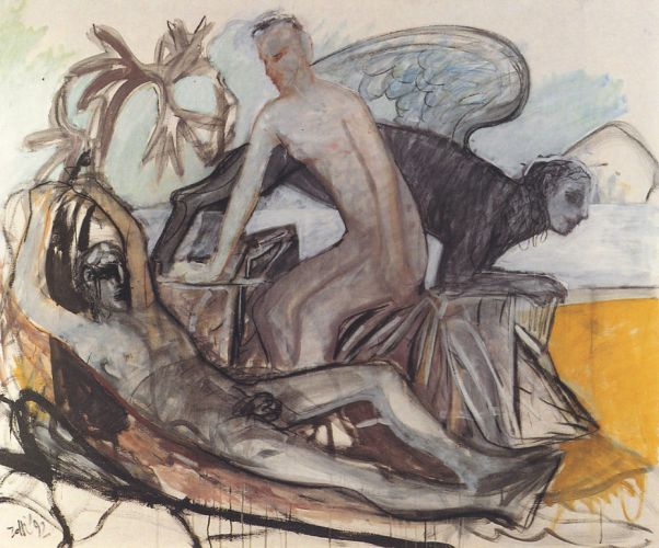 Mito, 1992<br /> acrilico su tela, cm 160x190
