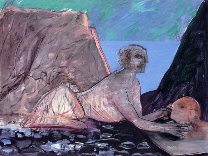 Mitologico, 1995<br /> acrilico su tela, cm 120x160