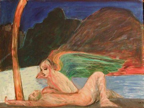 Sinji vhr, 1996<br /> tecnica mista su tela, cm 120x160