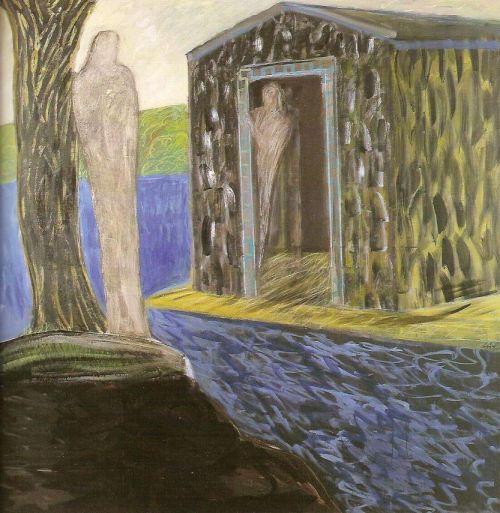 L'arca, 2001<br /> olio su tela, cm 200x200