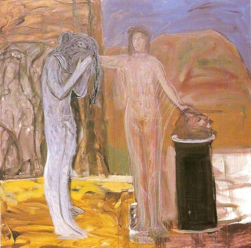 Salom&egrave;, 2001<br /> olio su tela, cm 200x200