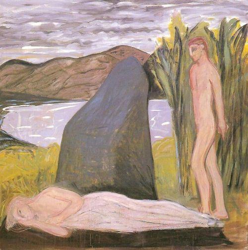 La bella addormentata, 2001<br /> olio su tela, cm 200x200