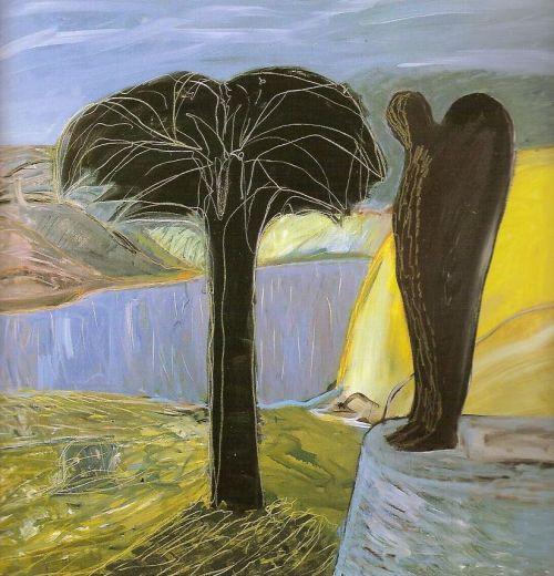 L'albero nero, 2002<br /> olio su tela, cm 200x200