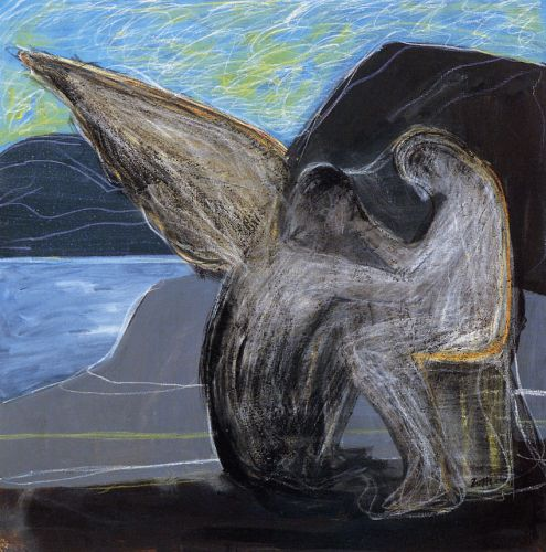 Annuncio, 2003<br /> olio su tela, cm 80x80